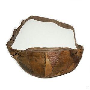 Handbags - Vintage Vegan Leather Patchwork Fanny Pack